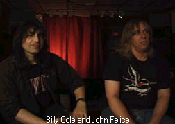 Billy  Cole and John Felice.