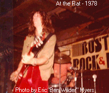 JJ at the Rat - 1978. Photo by Eric Myers aka Ben Wilder