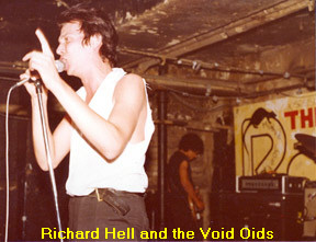 Richard Hell at The Rat when they had NYC-Boston exchange gigs