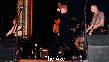 Axe on stage.