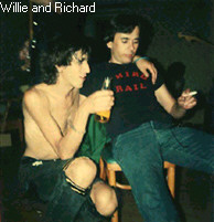 Willie drinking and Nolan smoking-pre straight edge punks