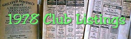 These are the scrapbooks with pasted club listings from the paper that the list was mainly made from.